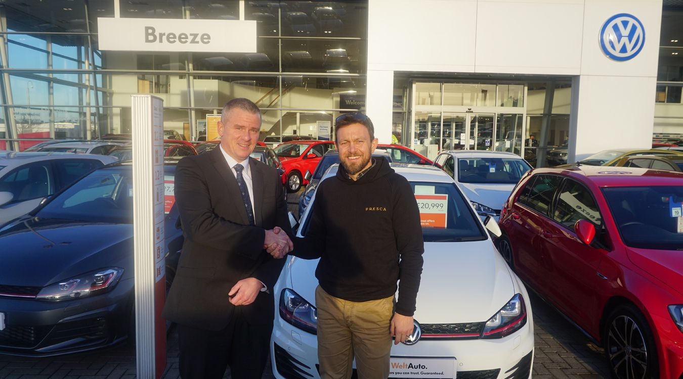 Breeze Volkswagen support charity cycling record attempt