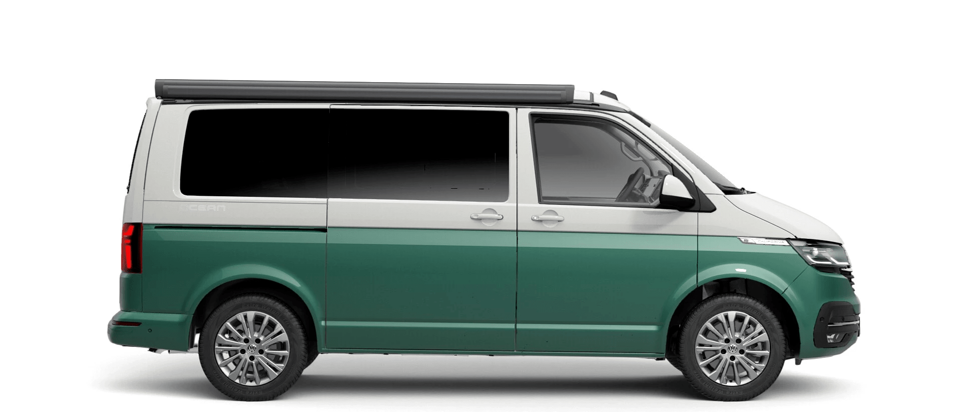 Volkswagen Van Range California - Available In Two Tone Candy White & Metallic Bay Leaf Green