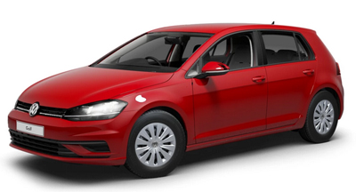 Volkswagen Golf - Available in Tornado Red