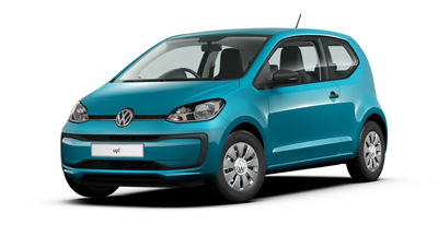 Volkswagen Up - Available in Costa Azul Metallic