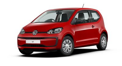 Volkswagen Up - Available in Tornado Red