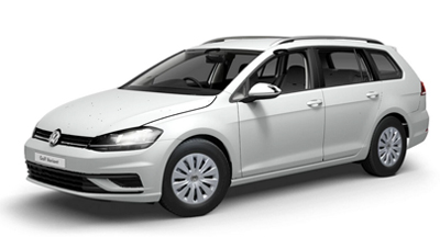 Volkswagen Golf Estate - Available in Oryx White Mother-of-Pearl