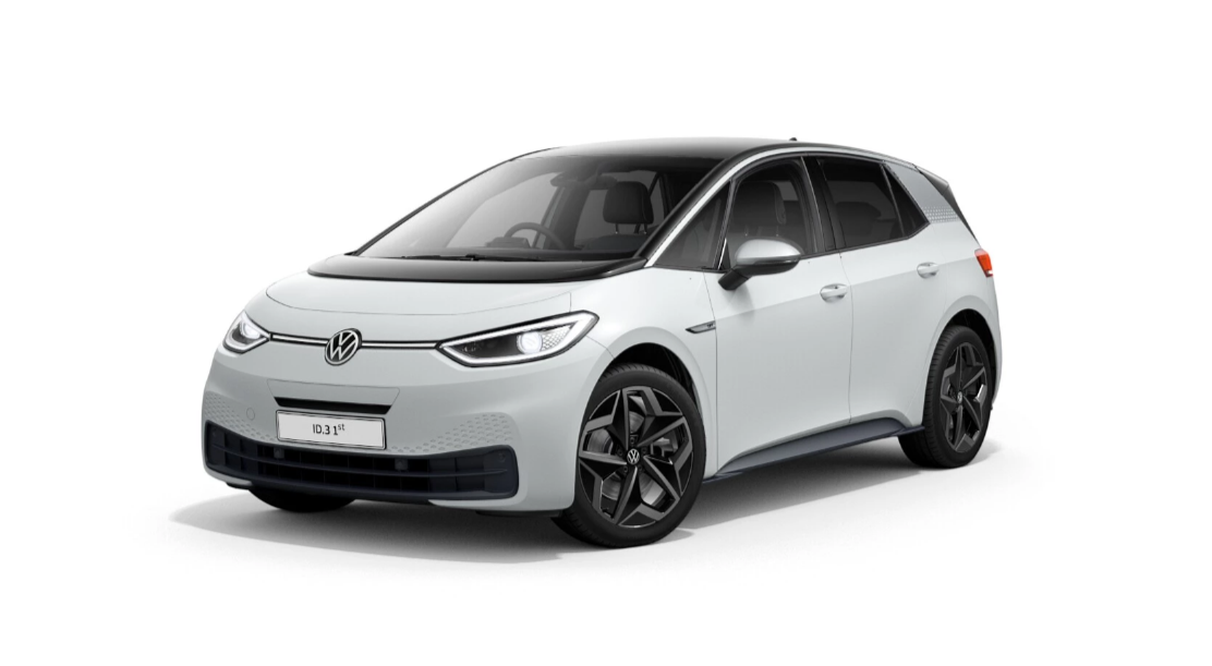 Volkswagen id.3 - Available in Glacier White Metallic Flat Black