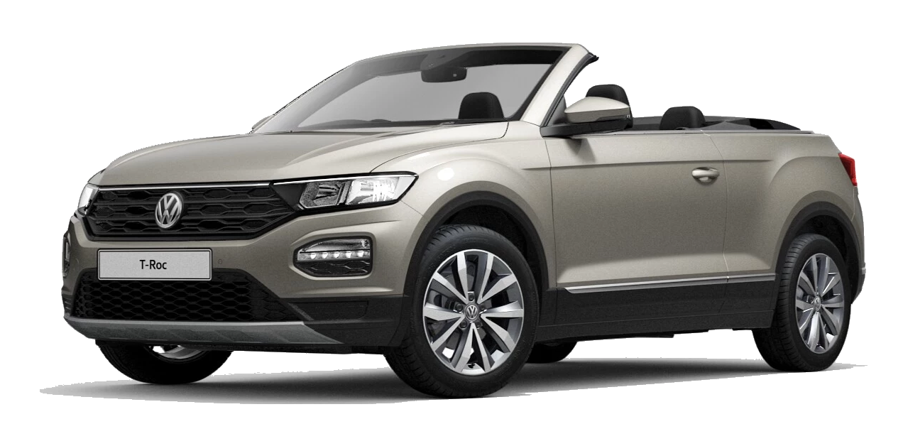 Volkswagen t roc cabriolet - Available in Ivory Silver Metallic Black