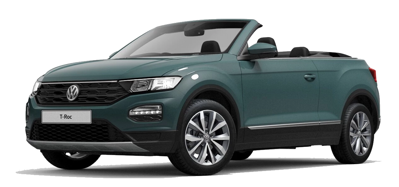 Volkswagen t roc cabriolet - Available in Ivy Green Black