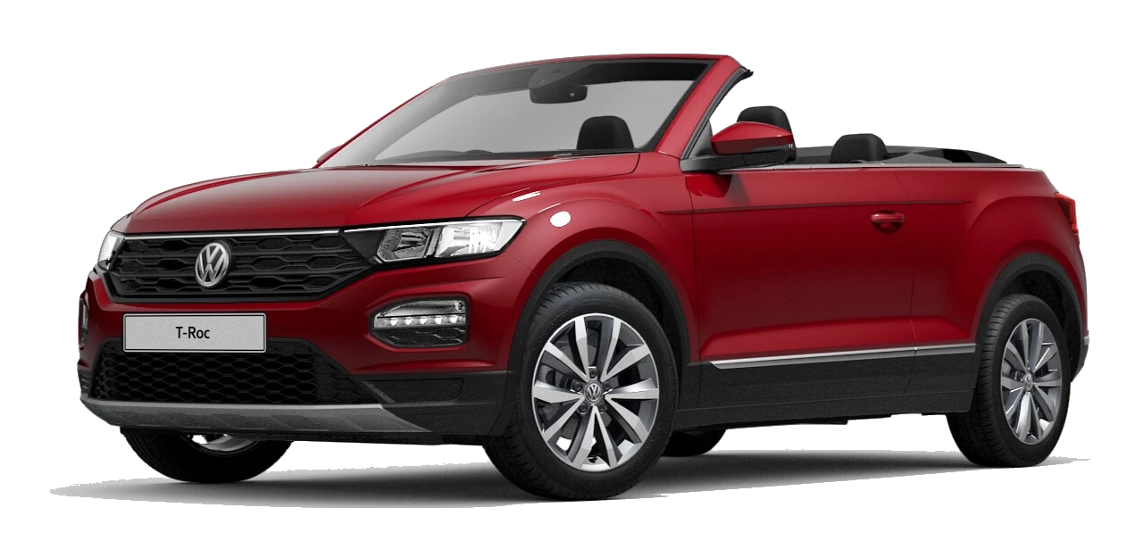 Volkswagen t roc cabriolet - Available in Kings Red Metallic Black