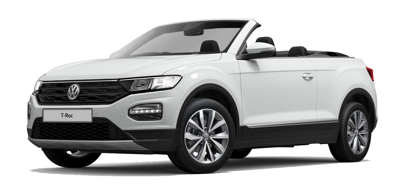 Volkswagen t roc cabriolet - Available in Pure White Black