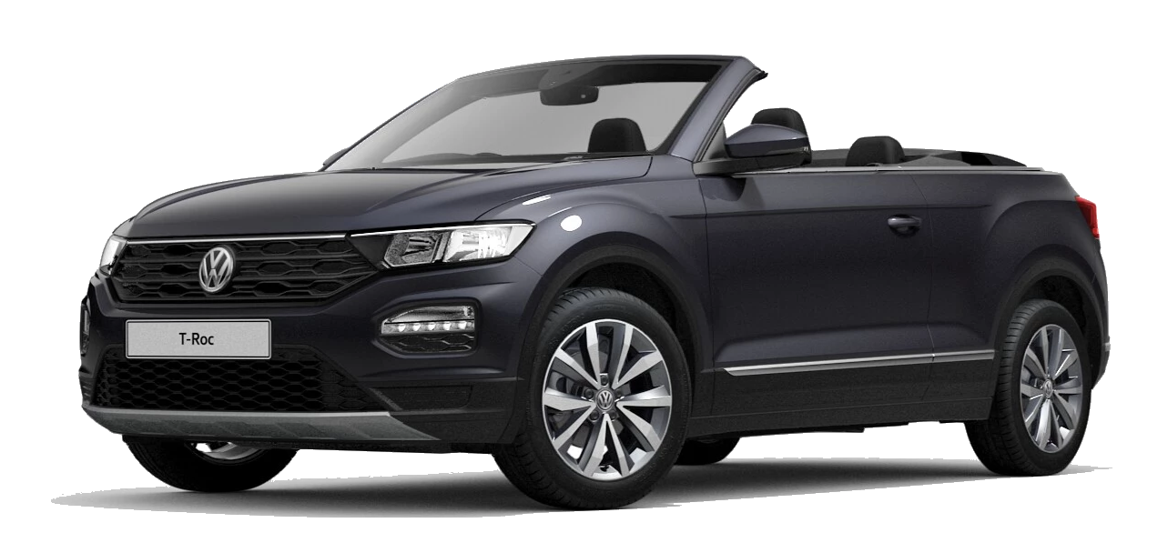 Volkswagen t roc cabriolet - Available in Smokey Grey Metallic Black