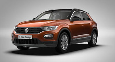 Volkswagen T-Roc - Available in Orange